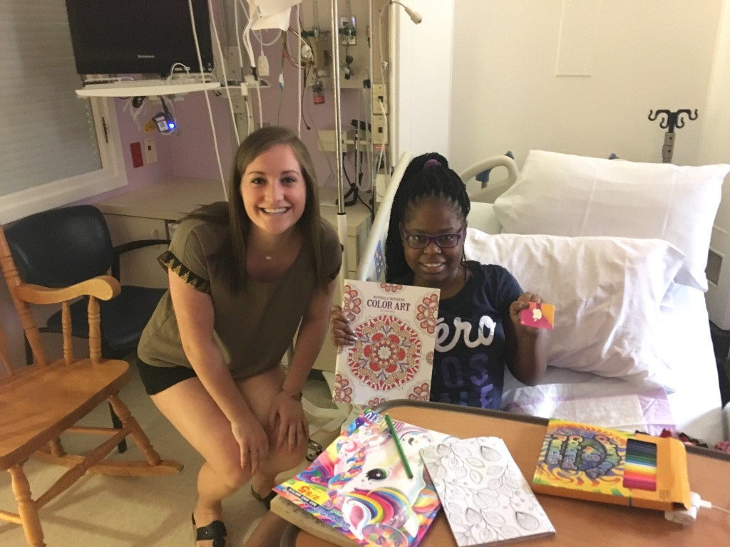Childrens hospital coloring book - Leanne Donated 3 Ipads 135 Gift Cards And Adult Coloring Books To Duke Children S Hospital She Was Honored To Spend Time With These Brave Teenagers